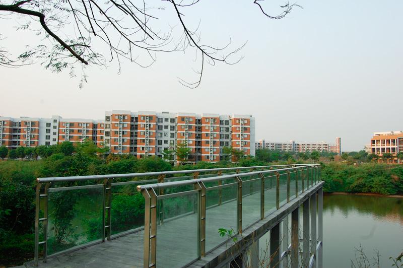 观景台,对面是松山湖东莞中学